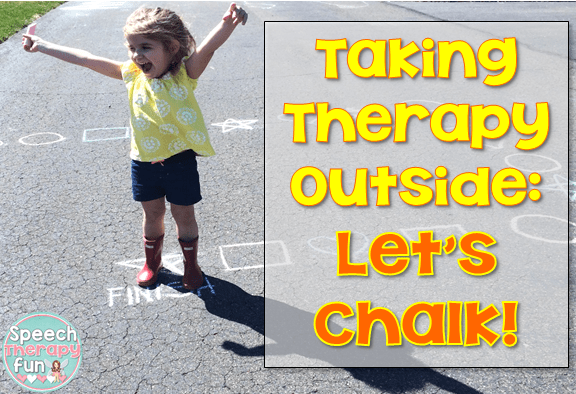 Taking Therapy Outside: Let's Chalk!